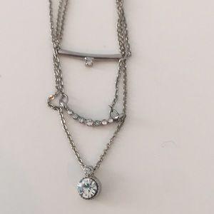 Silver layering necklaces